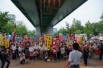 戦争する国にはさせない 集会とデモ
